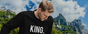 King Queen kleding header