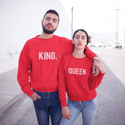 King Queen sweaters rood